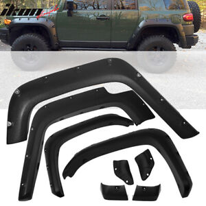 Fits 07 15 Toyota Fj Cruiser Pocket Fender Flares Sanded Wheel Cover 4pc Abs