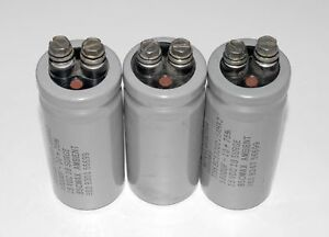Mepco mallory sangamo Large Can Electrolytic Capacitor 10 75 Screw Terminals