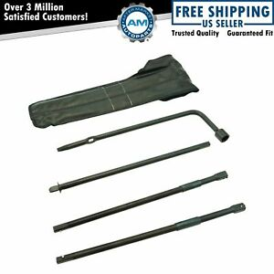 Spare Tire Lug Wrench Extension Jack Tool Kit Set For Colorado Canyon Hummer H3