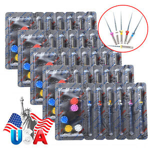 30pcs Dental Universal Endo Niti File Rotary Assort Files Root Canal Engine Burs