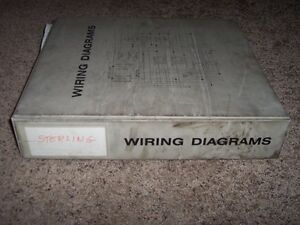 Sterling A line L line Trucks Electrical Wiring Diagrams Manual Binder