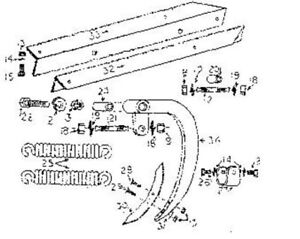 Fred Cain Field Cultivator Rear Shank Assembly Code Fc9302