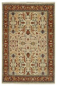 10x14 Serapi Ivory Rug Wool On Cotton Rugs Clearance Hand Knotted Area Rug