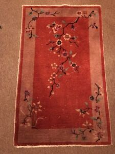Antique Art Deco Chinese Nichols Oriental Rug 3 X 5