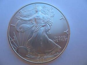 1 Oz 999 2004 Silver American Eagle Liberty Dollar B U From Mint Tube Gold