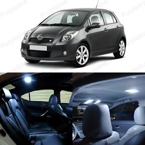 8 X White Led Interior Lights Package For 2007 2011 Toyota Yaris Pry Tool