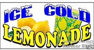 choose Your Size Ice Cold Lemonade Decal Concession Food Truck Vinyl Sticker