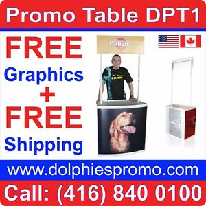 Promotional Demo Counter Portable Promo Table Counter Booth Trade Show Print