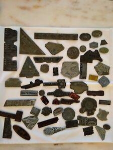 Mixed Lot Of 51 Vintage Printing Block Die Press Plates Airlines Advertising