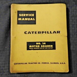 Genuine Caterpillar No 14 Motor Road Grader Repair Manual 35f1 96f1 Up Nice