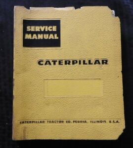 1956 60 Caterpillar Dw20 Tractor Service Repair Manual Ser 57c1 67c1 87e1 88e1