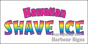 choose Your Size Hawaiian Shave Ice Decal Food Truck Concession Vinyl Sticker