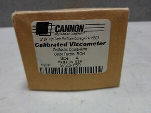 Cannon 9723 y59 Zeitfuchs Cross arm Unity Factor Calibrated Viscometer Size 4