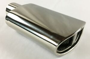 Exhaust Tip 2 25 Inlet 5 50 X 3 00 High 12 00 Lg Double Wall Rolled Oval Spli