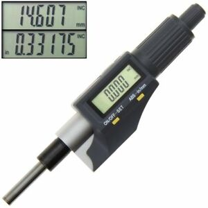 Digital Micrometer Head Electronic Lcd Display Inch Mm Metric 0 1 0 00005