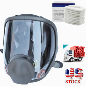 Full Face Gas Mask Painting Spraying Facepiece Respirator For 6800 Wide Field