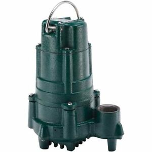 Zoeller N140 1 Hp Cast Iron Effluent Pump non automatic
