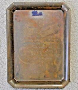 Vtg Tiffany Co 1884 1934 50th Wedding Anniversary Copper Invitation Desk Tray