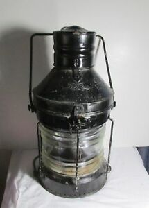 Rare Antique Rc Murray Co Antique Ship S Maritime Lantern Red Lens Nautical