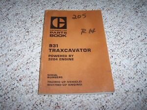 Caterpillar Cat 931 Traxcavator 3204 Engine Parts Catalog Manual 78u3914
