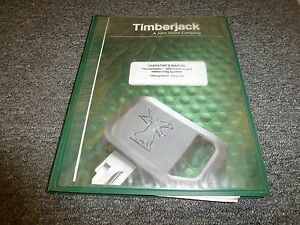 Timberjack Timbermatic 300 Control Measuring System Owner Operator Manual 150502