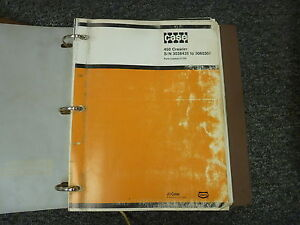 Ji Case Model 450 Crawler Loader Parts Catalog Manual Book S n 3038436 3060306