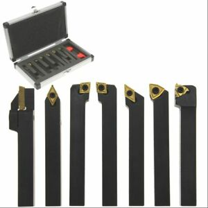 Carbide Indexable Turning Tool 3 8 7 Pc Lathe Tool Bit Set Thread Insert holder