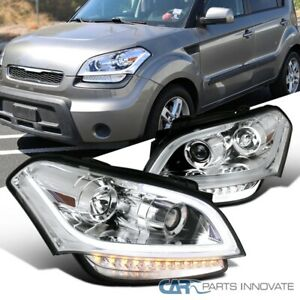 For 10 11 Kia Soul Clear Projector Headlights Head Lights Lamps Led Signal