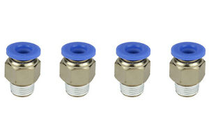 4x Temco Pneumatic Air Quick Push To Connect Fitting 1 8 Npt To 1 4 Hose Od