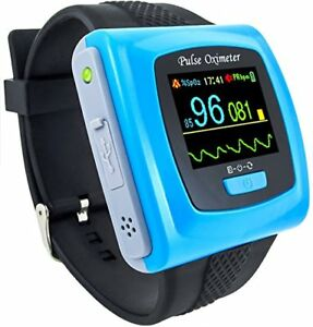 Pulse Oximeter Adult Pediatric Wrist Spo2 Blood Saturation Sports Home Daily Use