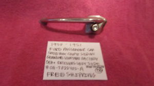 1950 1951 Ford Shoebox Fomoco Factory Drivers Door Handle Assembly Free Shipping