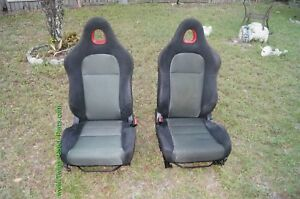 02 05 Honda Civic Si Ep3 Hatchback Front Seat L R Set Red Stitch Local Pick Up