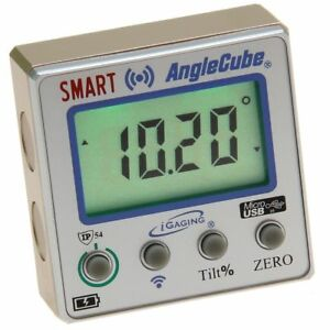 Digital Angle Cube Guage Bluetooth Level Protractor Magnetic Lighted Lcd Igaging