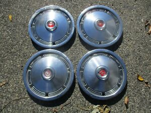 1974 To 1978 Ford Mustang Ii 13 Inch Metal Hubcaps Wheel Covers Set