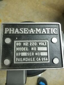 Phase a matic Rotary Phase Converter Model R 2
