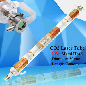 700mm 40w Co2 Laser Tube Metal Head Glass Pipe For Cutting Engraving Machine New
