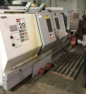 Used Haas Sl 20tl Cnc Lathe 2008 2 Bar 8 Chuck Tailstock Chip Presetter St 20
