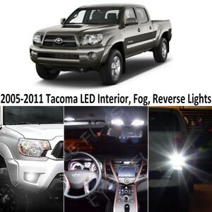 White Led Interior reverse fog Lights Package tool For 2005 2011 Toyota Tacoma