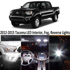 White Led Interior reverse fog Lights Package tool For 2012 2015 Toyota Tacoma