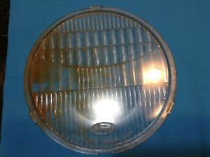 1920 s Ford Model A Flat Twolite Headlight Lens Headlamp And Base Ring 1604935