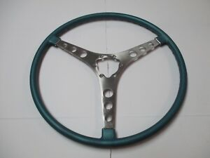 59 1960 Corvette Turquoise Steering Wheel New Blem C1