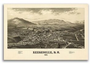 1887 Keeseville New York Vintage Old Panoramic Ny City Map 20x30