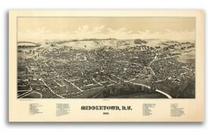 1877 Middletown New York Vintage Old Panoramic Ny City Map 14x24