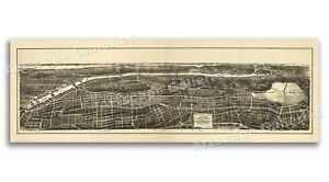 1897 Nyc Bronx New York Vintage Old Panoramic Ny City Map 24x72