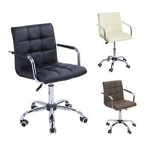 Midback Executive Computer Desk Task Office Chair Pu Leather Modern Swivel