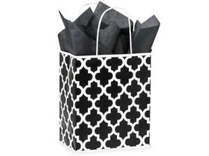 1 Unit Black Geo Graphic Recycled Paper Bags 8x4 3 4x10 1 4 Unit Pack 25