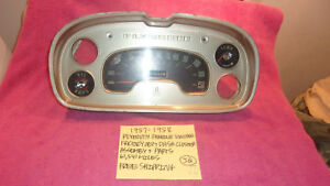 1957 1958 Plymouth Mopar Factory Oem Dash Cluster Assembly Parts Free Shipping