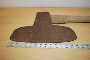 Antique Hand Forged Large Broad Axe As Pictured