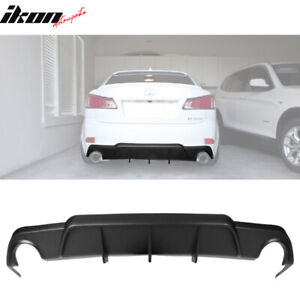 For 06 12 Lexus Is250 Is350 Dmr Style Rear Diffuser Bumper Lip Add On Black Pu