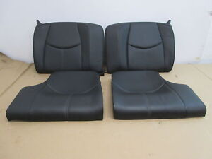 07 Porsche 911 Turbo 997 1031 Black Leather Rear Seats